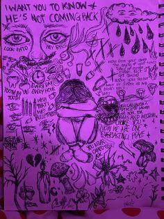 Indie Drawings, Art Drawings Sketches Simple, Cool Drawings, Arte Grunge, Grunge Art, Arte Punk, Aesthetic Art, Lyrics Aesthetic, Vent Art