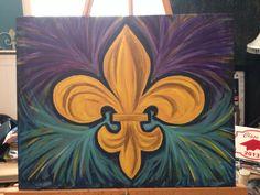 Canvas art #fleurdelis