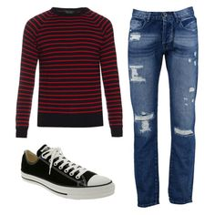 Kurt Cobain - Channel Kurt's iconic Nirvana look with distressed jeans, striped sweater and Chucks.