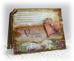 Vintage/shabby valentine - with a little vellum added