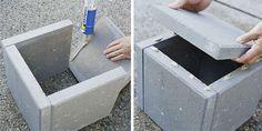 diy mod cement planters  pavers & landscape-block adhesive