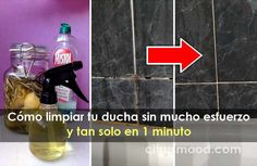 Cómo limpiar tu ducha sin mucho esfuerzo y tan solo en 1 minuto Soap, Bottle, Crochet, Desserts, Clean Stove Burners, Household Cleaning Tips, Clean Toilets, Cleaning Supplies, Cleaning Hacks