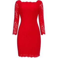 Adrianna papell Three-Quarter Sleeve Lace Cocktail Dress, Red ($84) ❤ liked on Polyvore featuring dresses, 3/4 sleeve dress, short sleeve cocktail dresses, midi cocktail dress, long-sleeve midi dresses and sheer cocktail dress
