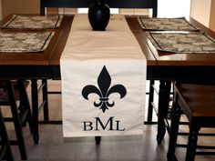Personalized Canvas Table Runner by PaperAccentsByLaura on Etsy
