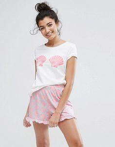 Vero Moda Shell Print Pajama Set