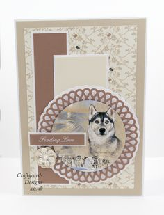 Handmade Card : This card has been made using the Sketch Book Collection VII Best Of Breeds by Pollyanna Pickering and Creative Crafting World Sand Crafts, Crafts To Do, Arts And Crafts, Kanban Crafts, Make Your Own Card, Dog Cards, Animal Cards, Card Tutorials, Masculine Cards