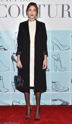 This winter, it's the tiny yet game-changing matter of the right tights. Forget opaques. Dismiss bare legs. Believe it or not, sheer black tights are back for the first time since the Eighties (pictured, Alexa Chung rocking the trend)