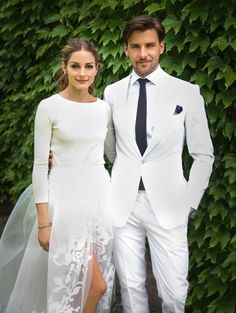 Cele|bitchy | Olivia Palermo's Carolina Herrera two-piece wedding dress: cute or budget? Luv it!