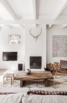 77 Gorgeous Examples of Scandinavian Interior Design Scandi-living-room-with-wood