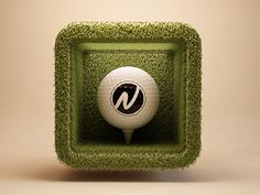 3D Golf App Icon. Checkout his other designs.  Awesome!