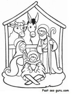 printable christmas jesus in the manger coloring pages printable coloring pages for kids