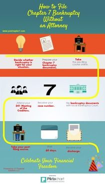 How to File Chapter 7 Bankruptcy Without an Attorney | Piktochart Infographic Editor
