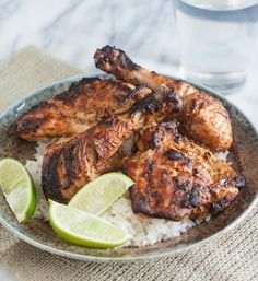 Easy Weeknight Tandoori Chicken from Tracey's Culinary Adventures -Sarah Grilled Chicken, Baked Chicken, Boneless Chicken, Chicken Marinades, Chicken Recipes, Tandori Chicken, Bangladeshi Food, Cooking Recipes, Healthy Recipes