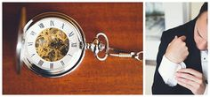 Pocket watch gift for groom. Set it to the time you'll be married! Photo: Horn Photography and Design
