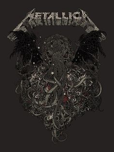 Metallica's poster for the 30th anniversary of 'Ktulu' in 2014.
