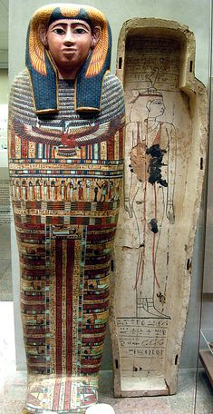 Inner coffin of Ankhshepenwepet Dynasty 25 Thebes, Deir el-Bahri, Tomb TT MMA Accession Number: b الدير البحرى Ancient Egyptian Art, Ancient History, Art History, Egyptian Mummies, Empire Romain, Egypt Art, Ancient Artifacts, African History, Ancient Civilizations