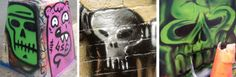 A collection of street art skulls found everywhere from 5 Pointz to Virginia Beach; from Bridgeport CT to Montmartre, Paris, and many more!