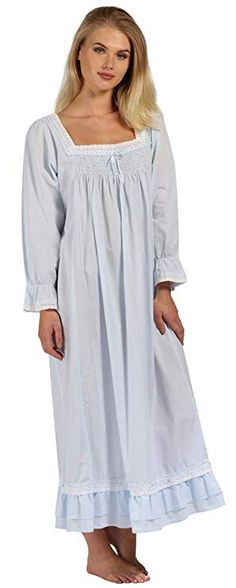 d1736999ec The 1 for U Martha Nightgown 100% Cotton Victorian Style - Sizes XS - 3X at  Amazon Women s Clothing store