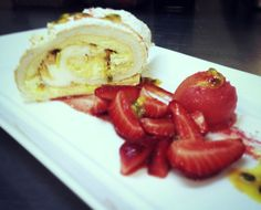 Simple pleasures - Meringue Roulade with and Australian Meringue Roulade, Rick Stein, Simple Pleasures, Strawberries, Fresh, Breakfast, Recipes, Food, Morning Coffee