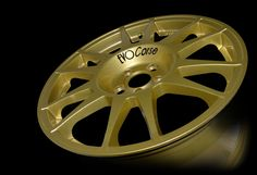 SanremoCorse 17'' Gold - Realized for high performances on tarmac #evocorse #madeinitaly #gold #wheel #sanremocorse