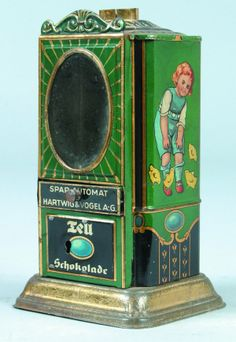 Hartwig & Vogel chocolate dispenser and bank