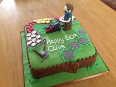 Image result for 60th birthday cake man garden