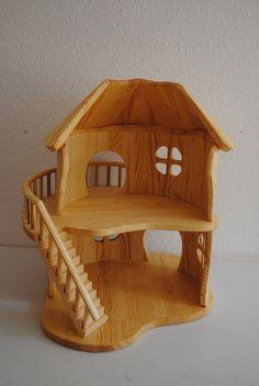 Dollhouse Handmade wooden DollHouse doll house by TaleWood Dollhouse Toys, Wooden Dollhouse, Wooden Dolls, Dollhouse Furniture, Wooden Diy, Handmade Wooden, Doll House Plans, Little Doll, Wood Toys
