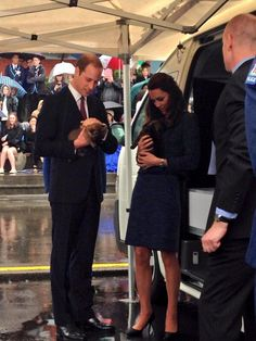 16 APRIL 2014 Prince William and Kate, Duchess of Cambridge's puppy love in New Zealand