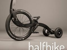 Halfbike II – Half The Bike But Double The Fun [Video] - No, it's not a unicycle, it's something way more…uhm…exotic. The Halfbike II is a new and more fun way to get around. Karts, Champions Of The World, Drift Trike, Unicycle, Bicycle Parts, Bicycle Engine, Meet The Team, Technology Gadgets, Bike Life