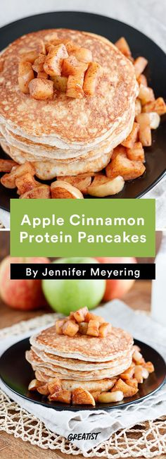 2. Apple Cinnamon Protein Pancakes #Greatist http://greatist.com/eat/healthy-breakfast-recipes-to-make-for-dinner