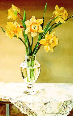 Daffodils by ~LenaAkhumova on deviantART