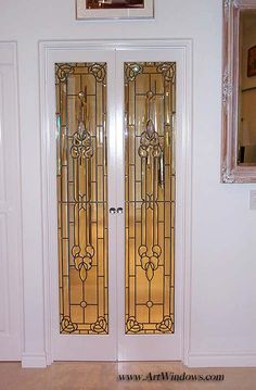 Frosted Glass Door, Stained Glass Door, Glass Doors, Stained Glass Patterns, Door Ideas, Gates, Art Nouveau, Projects To Try, Internet