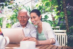 Family with tablet computer royalty-free stock photo