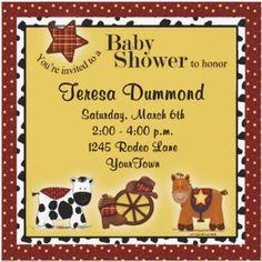 Farm Animals Baby Shower Invitation | DixieInvitations.com