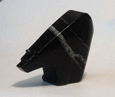 BEAR from Black Chlorite by stone artist ALLAN WAIDMAN Stone Carving, Stones, Bear, Sculpture, Artist, Stone Sculpture, Rocks, Artists, Stone