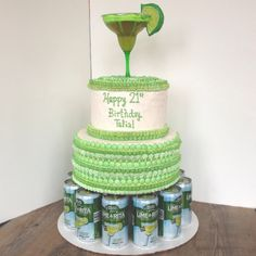 Margarita 21st Birthday Cake #thecreaterie