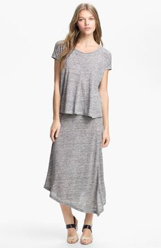 Eileen Fisher Top  Swing Skirt  available at #Nordstrom  Burda mag - Draped Tee 03/2010 #118B or Papercut patterns - SJ tee Burda mag - 07/2011 #115 Skirt