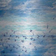 Meadow Flock Graphic Art Plaque