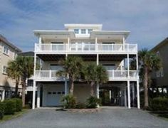CC Cabana - This 6 bedroom home is perfect for your family vacation! Several covered decks, easy beach access, a community oceanfront pool, what more can you ask for?Ocean Isle Beach Vacation Rental Ocean View House   C. C. Cabana   Sunset Properties