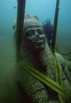 Artefacts from two 'lost cities' of Ancient Egypt are due to go on display at the British Museum in London today, after being buried underwater for more than 1,000 years...