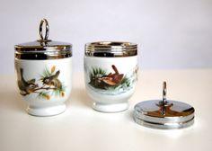 2 Vintage Royal Worcester Egg Coddler Cups on Etsy, $28.00