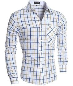 "Men's ""A Breeze In Long Sleeve"" Plaid Slim Fit Light Spring/Summer…"