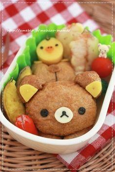 稲荷リラックマ (bear bento)