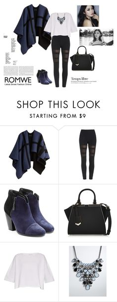 """""""Romwe.com"""" by alien-official ❤ liked on Polyvore featuring Burberry, rag & bone, Fendi, Helmut Lang, Torrid, Hedi Slimane, women's clothing, women, female and woman"""