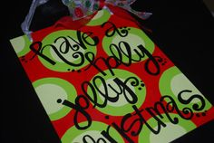 DIY Christmas ART - sharpie on wrapping paper for art!  Christmas quote on canvas board (large)