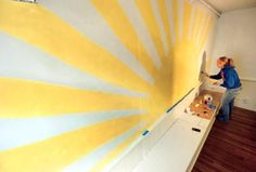 wall murals childrens church - yes please! Church Nursery Decor, Kids Church Decor, Kids Church Rooms, Sunday School Decorations, Church Ideas, Church Camp, Children Church, Church Decorations, Kid Rooms