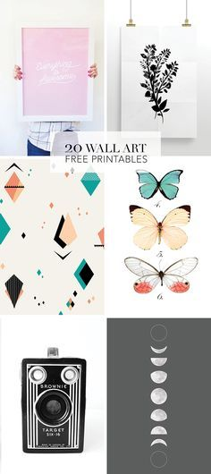 We've rounded up our favorite wall art free printables – From modern art to vintage botanical to prints that work in kid's rooms.