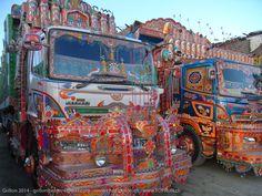 On the road Switzerland to India Vera Bradley Backpack, Switzerland, Pakistan, Europe, Trucks, India, Vehicles, Goa India, Truck