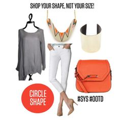 Shop Your Shape, Not Your Size - outfit idea for circle shapes! Circle Shape, Triangle Shape, Inverted Triangle, A Boutique, Body Shapes, Dressing, Celebrities, Outfits, Shopping