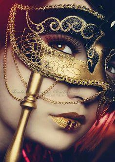 Black & Gold Masquerade Ball Mask
